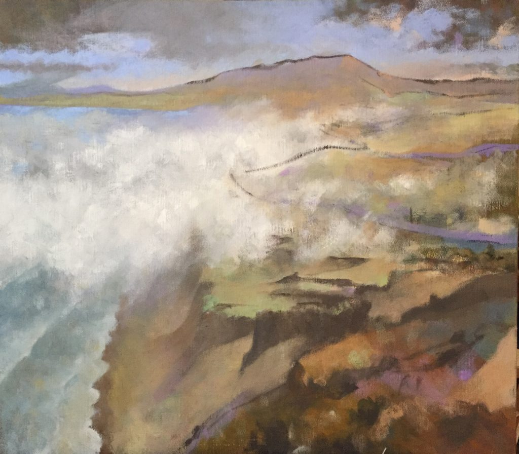 Point Reyes [version 2], oil on canvas, 30 x 34""