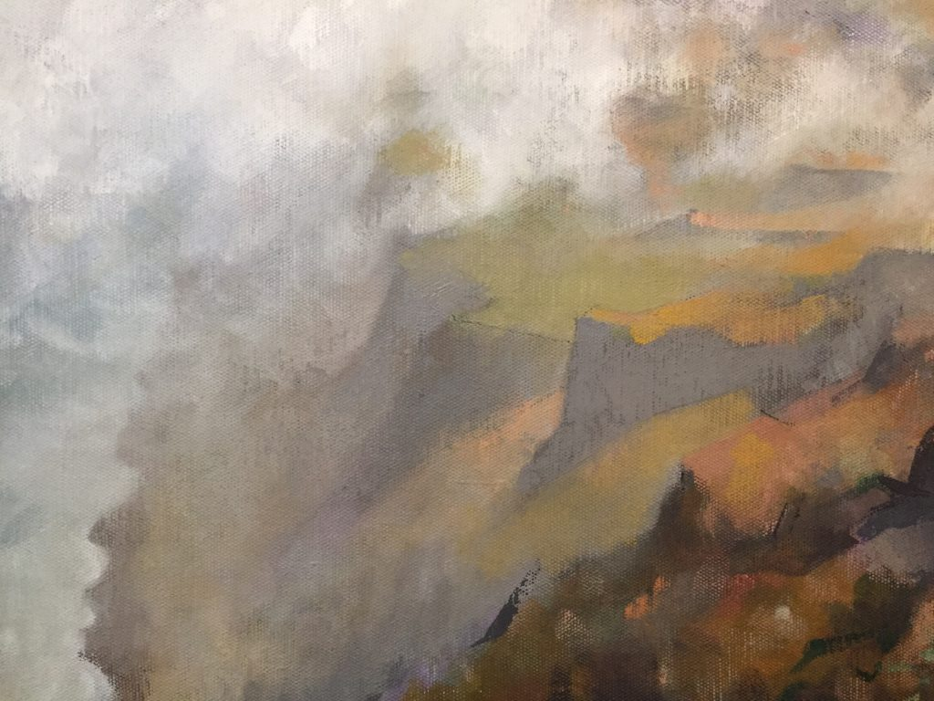 Point Reyes [version 3 detail], oil on canvas, 30 x 34""