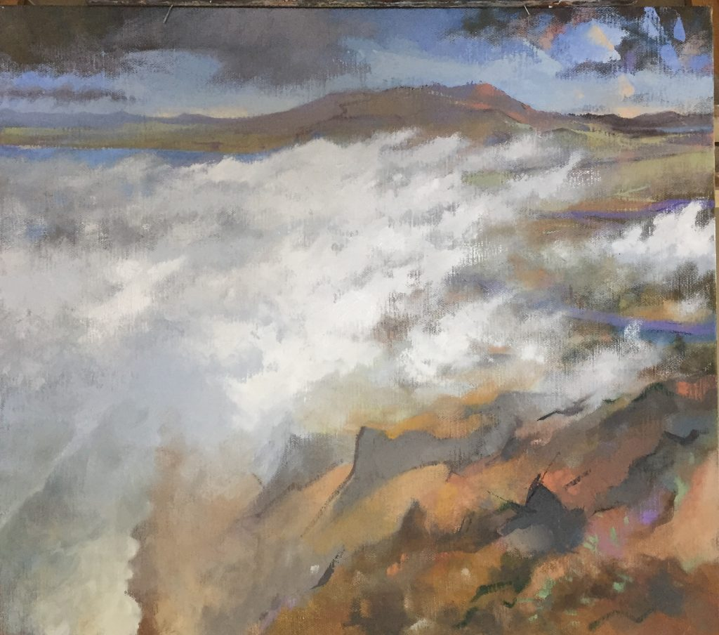 Point Reyes [version 4], oil on canvas, 30 x 34""